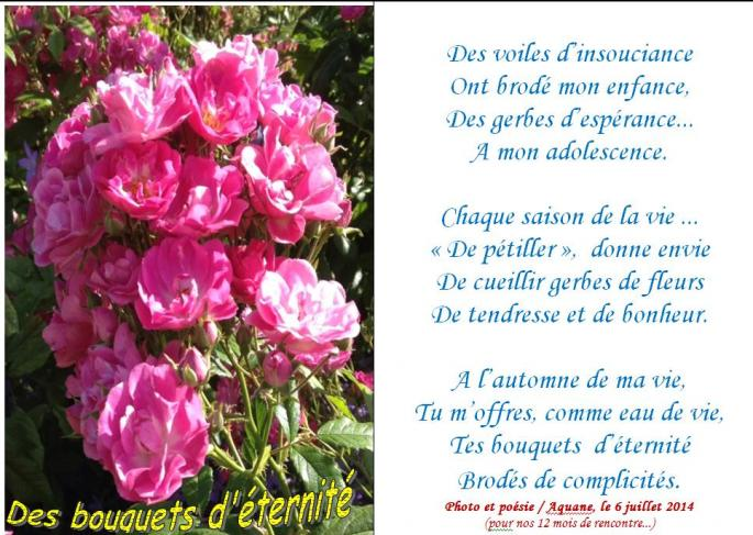 Des bouquets d eternite
