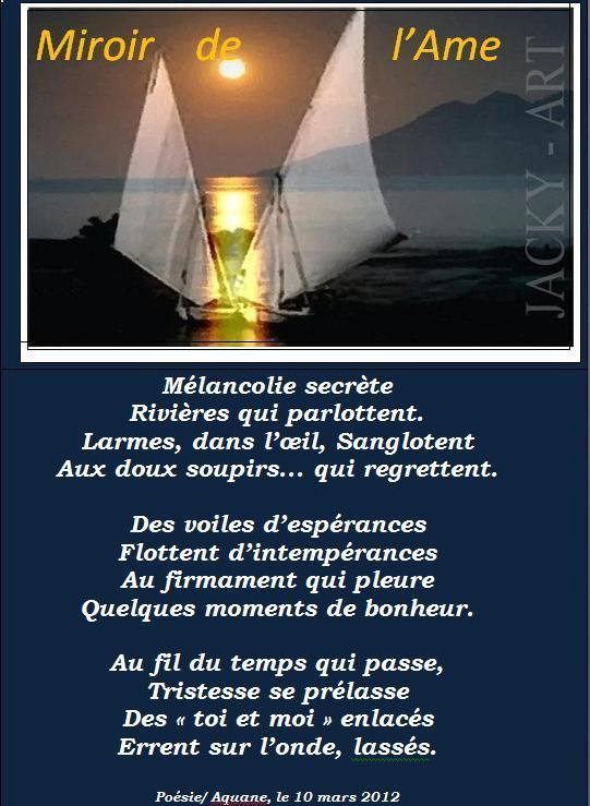 Poesie nostalgie for Miroir de l ame